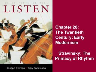 Chapter 20: The Twentieth Century: Early Modernism