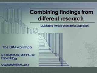 Combining findings from different research