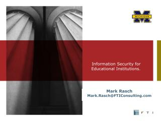 Information Security for Educational Institutions.