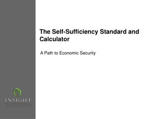 The Self-Sufficiency Standard and Calculator