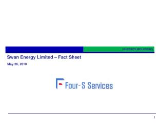 Swan Energy Limited   Fact Sheet
