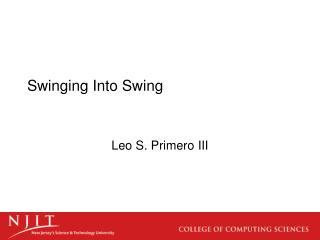 Swinging Into Swing