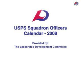 USPS Squadron Officers Calendar - 2008
