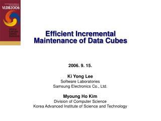 Efficient Incremental Maintenance of Data Cubes