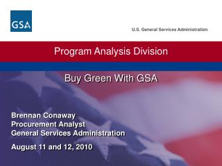 Buy Green With GSA
