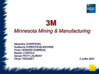 3M  Minnesota Mining  Manufacturing
