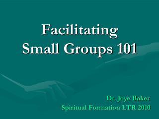 Facilitating Small Groups 101