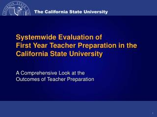 Graphic Results of the CSU Systemwide Evaluation of Teacher ...
