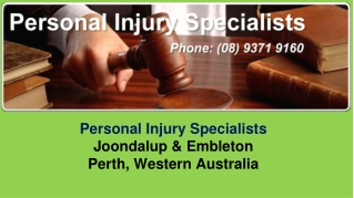Case Studies from personal injury solicitor lawyer Joondalup