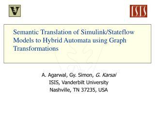 Semantic Translation of Simulink