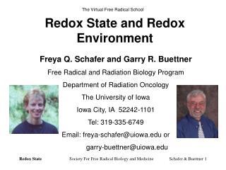 Redox State and Redox Environment