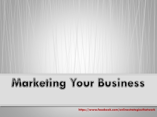Marketing Your Business Online