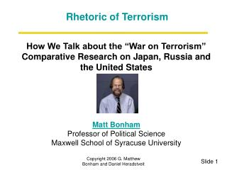 How We Talk about the War on Terrorism