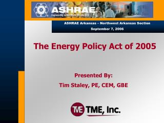 The Energy Policy Act of 2005