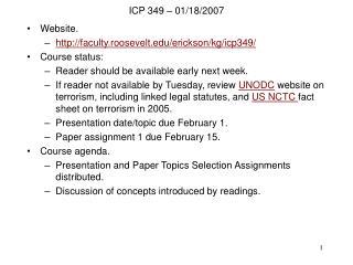 Prof. Erickson slides