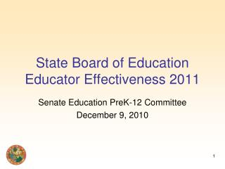 State Board of Education Educator Effectiveness 2011