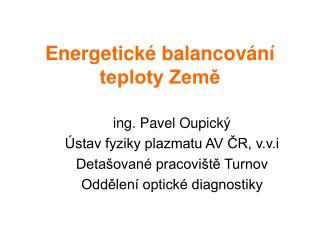 Energetick  balancov n  teploty Zeme