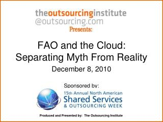 FAO and the Cloud:  Separating Myth From Reality