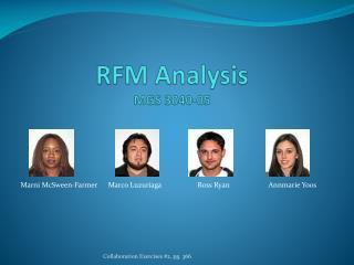 RFM Analysis MGS 3040-05