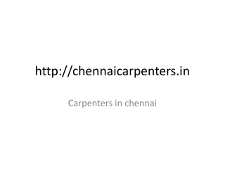 Carpentry in chennai