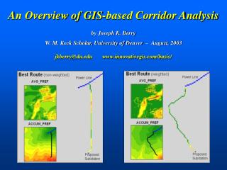 An Overview of GIS-based Corridor Analysis