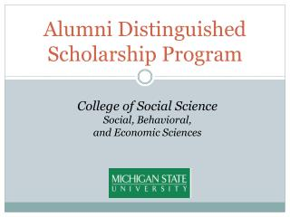 Alumni Distinguished Scholarship Program