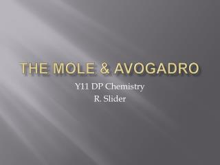 The Mole  Avogadro