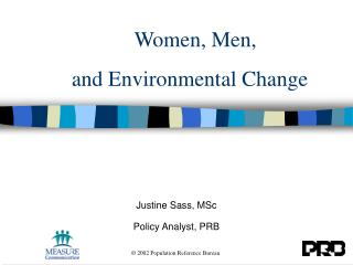 Women, Men,  and Environmental Change