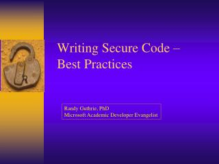 Writing Secure Code   Best Practices