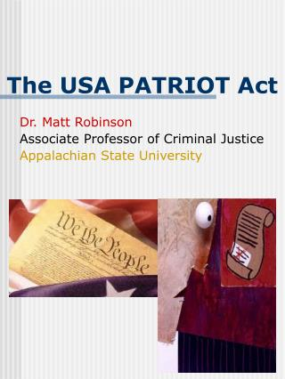 Class notes: The USA PATRIOT Act