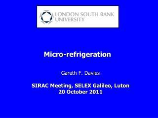 Micro-refrigeration