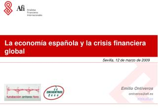 La econom a espa ola y la crisis financiera global