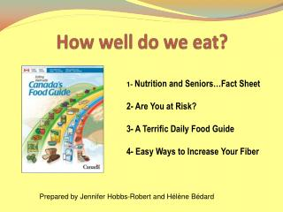 How well do we eat