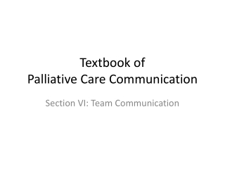 Advance Care Planning Conversations: The Family Perspective