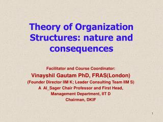 Theory of Organization Structures: nature and consequences