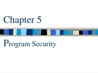 Chapter 5  Program Security