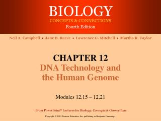 BIOLOGY CONCEPTS  CONNECTIONS Fourth Edition