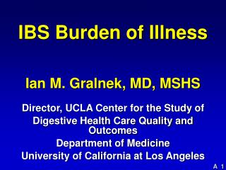 IBS Burden of Illness