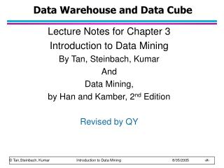 Data Warehouse and Data Cube