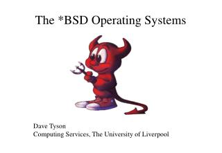The BSD Operating Systems