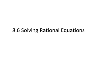 4.6 Solving Rational Equations
