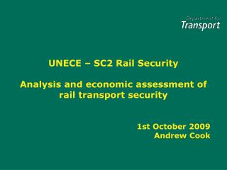 UNECE   SC2 Rail Security Analysis and economic assessment of ...