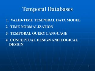 Temporal Databases