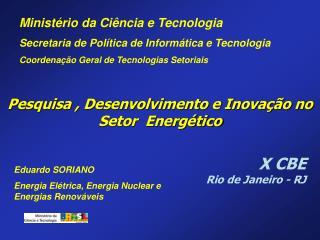 Pesquisa , Desenvolvimento e Inova  o no Setor  Energ tico