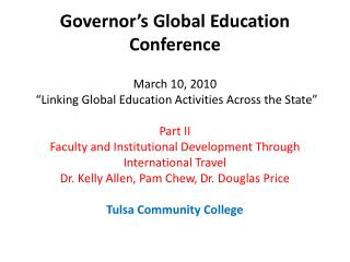 Faculty and Institutional Development Through International ...