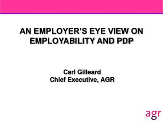 AN EMPLOYER S EYE VIEW ON EMPLOYABILITY AND PDP