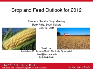 USDA Outlook for the 2012 U.S. Farm Economy