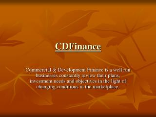Invoice discounting finance