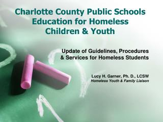Charlotte County Public Schools Education for Homeless Children  Youth