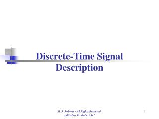 Discrete-Time Signal Description